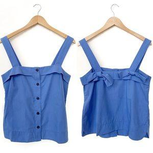 BANANA REPUBLIC Blue Button Down Bow Tie Tank Top